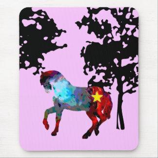 Kinderrosa Pferd Mauspads