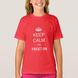 Kinderrot behalten ruhige Unruhe auf T-Shirt