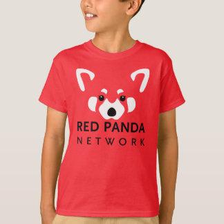 Kinderroter Panda-Shirt-Rot T-Shirt