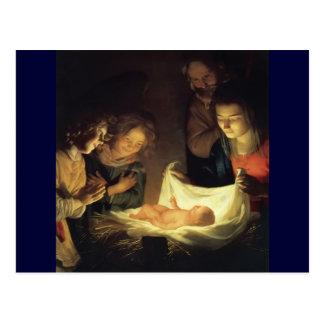 Kinderschäfer-Anbetung Jesus Postkarte