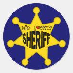 Kindersheriff-T-Shirts und Kindergeschenke Runder Aufkleber