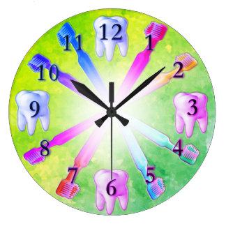 Kinderspaß-bunte Zahnbürste-Uhr Große Wanduhr