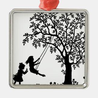Kinderspiel Silbernes Ornament
