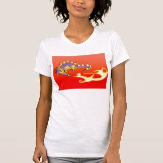 Kinderstegosaurus-atmenfeuer durch Alberto Rios T-Shirt