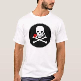 KinderT - Shirt der Piratenflagge-(Rose)