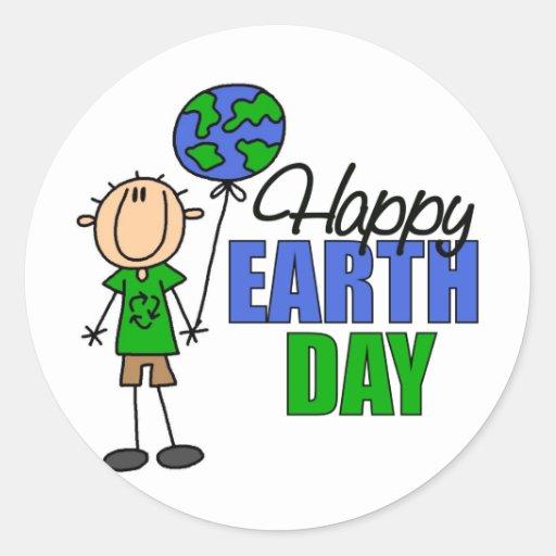 KinderTag der Erde-Geschenk Runde Aufkleber
