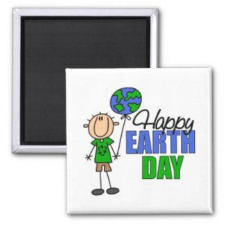 KinderTag der Erde-Geschenk Quadratischer Magnet