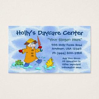 Kindertagesstätte oder Kinderbetreuung Visitenkarte