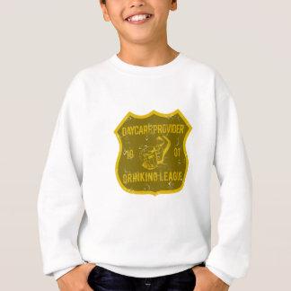 Kindertagesstätten-Anbieter-trinkende Liga Sweatshirt