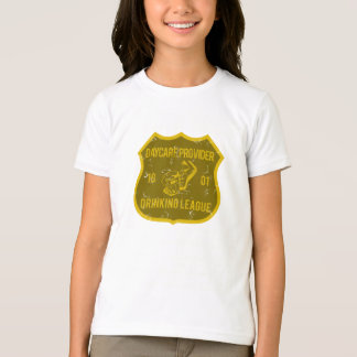Kindertagesstätten-Anbieter-trinkende Liga T-Shirt
