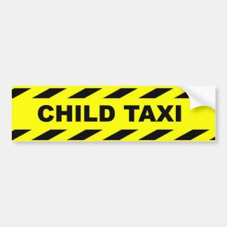 Kindertaxi. Lustiger Aufkleber - vervollkommnen Autoaufkleber