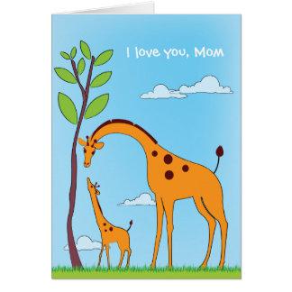 Kindervalentine-Giraffen-Liebe-Karte Karte