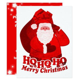 KinderweihnachtsParty Einladung Sankt-Rot Karte