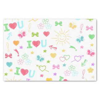 Kinderzeichnungen Seidenpapier