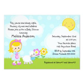 Kinderzimmer-Reim-Baby-Dusche 12,7 X 17,8 Cm Einladungskarte