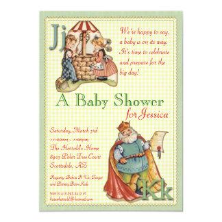 Kinderzimmer-Reim-Baby-Duschen-Einladung 12,7 X 17,8 Cm Einladungskarte