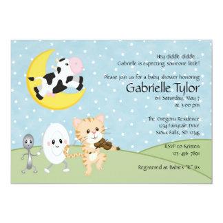 Kinderzimmer-Reim-Baby-Duschen-Einladungen 12,7 X 17,8 Cm Einladungskarte