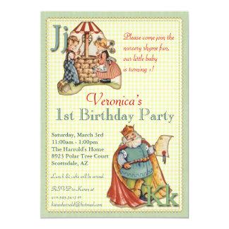 Kinderzimmer-Reim-Einladung - Rückseite Fräuleins 12,7 X 17,8 Cm Einladungskarte