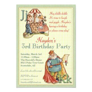 Kinderzimmer-Reim-Einladung - wenig Piggy an 12,7 X 17,8 Cm Einladungskarte