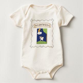 Kinderzimmer-Reim-Kuh u. Mond-Säuglings-Bio Baby Strampler