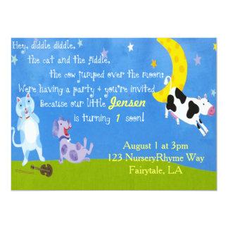Kinderzimmer Ryme Geburtstags-Party 16,5 X 22,2 Cm Einladungskarte