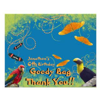 KinderZoo-Geburtstags-Sachen-Taschen-Deckel 11,4 X 14,2 Cm Flyer