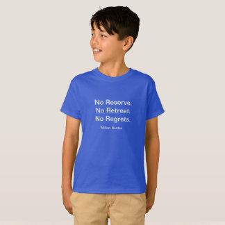 Kindes motivierend kein Bedauern-Shirt T-Shirt