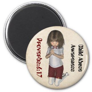 Kindesmissbrauch-Bewusstseins-Magnet Magnete
