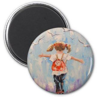 Kindheit Runder Magnet 5,7 Cm