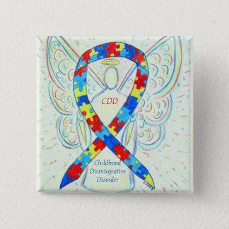 Kindheits-Disintegrative Störungs-Band-Buttone Quadratischer Button 5,1 Cm