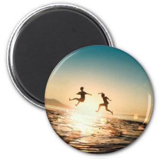 Kindheits-Erinnerungen Runder Magnet 5,7 Cm