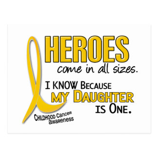 Kindheits-Krebs-alle Helder sortiert 1 Tochter Postkarte