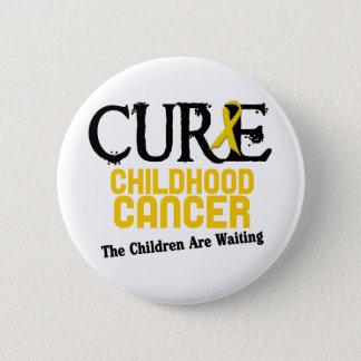 Kindheits-Krebs-Bewusstsein HEILUNG Runder Button 5,1 Cm