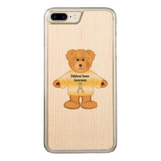 Kindheits-Krebs-Bewusstsein mit Teddybären Carved iPhone 8 Plus/7 Plus Hülle