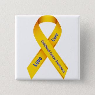 Kindheits-Krebs-Bewusstseins-Abzeichen Quadratischer Button 5,1 Cm