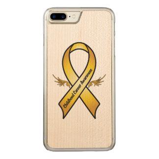 Kindheits-Krebs-Bewusstseins-Band Carved iPhone 8 Plus/7 Plus Hülle