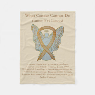 Kindheits-Krebs-Bewusstseins-Band-Engels-Decken Fleecedecke