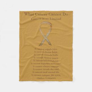 Kindheits-Krebs-Bewusstseins-Goldband-Decken Fleecedecke