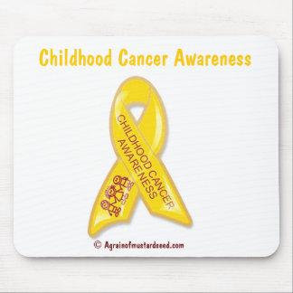 Kindheits-Krebs-Gelb-Band Mauspad