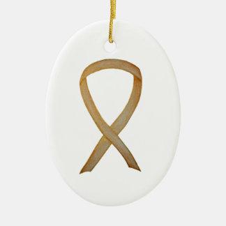 Kindheits-Krebs-Goldbewusstseins-Band-Verzierungen Keramik Ornament