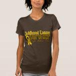 Kindheits-Krebs-Überlebend-Blumen-Band Hemden