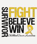Kindheits-Krebs-Überlebend-Kampf glauben Gewinn-Mo T Shirts