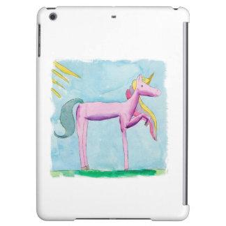 Kindische Aquarellmalerei mit Einhornpferd