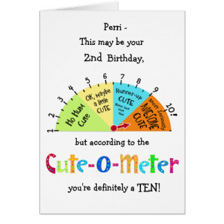 KindNiedlich-O-meter lustige 2. Karte