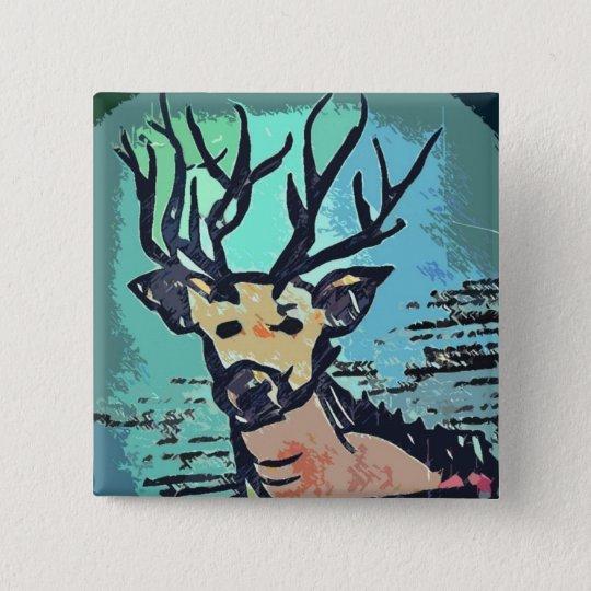 King Of The Wood /// Hirsch / Deer Button Pin