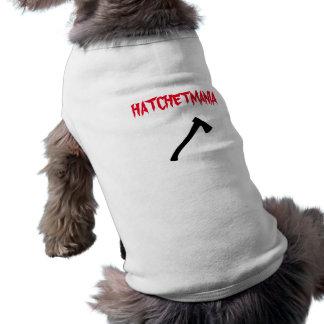 KingofClubs Hatchetmania Shirt Weiß-(d) Ärmelfreies Hunde-Shirt