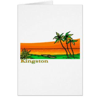 Kingston, Jamaika Karte