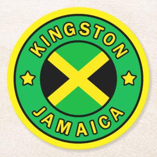 Kingston Jamaika Runder Pappuntersetzer