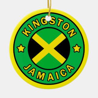 Kingston Jamaika Rundes Keramik Ornament