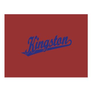 Kingston-Skriptlogo im Blau Postkarte